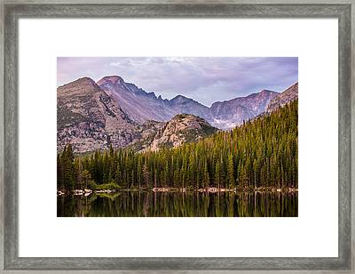 Purple Mountains' Majesty Framed Print by Adam Pender