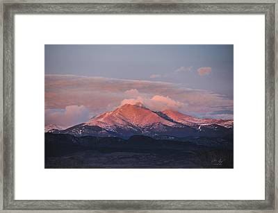 Longs Peak Sunrise Framed Print