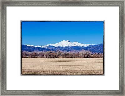 Longs Peak Framed Print