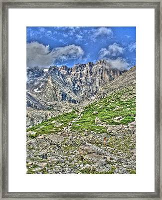 Longs Peak Trail Framed Print