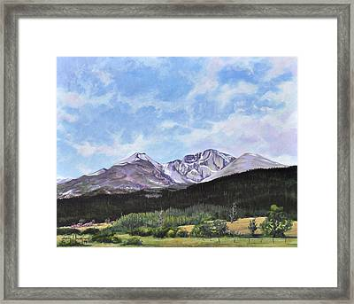 Longs Peak Vista Framed Print by Craig T Burgwardt