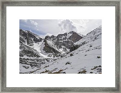 Longs Peak Winter Framed Print by Aaron Spong