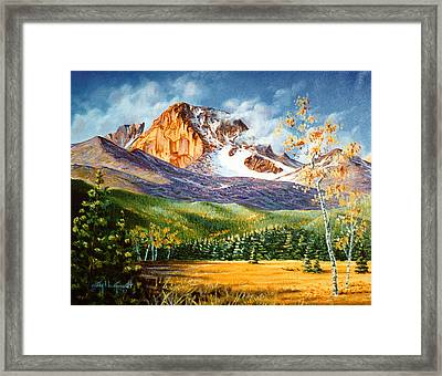 Longs Shadows Framed Print