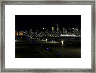 Longsdale To Vancouver A Working City Framed Print by Paul W Sharpe Aka Wizard of Wonders