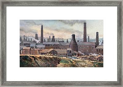 Longton Pot Works Framed Print by Anthony Forster