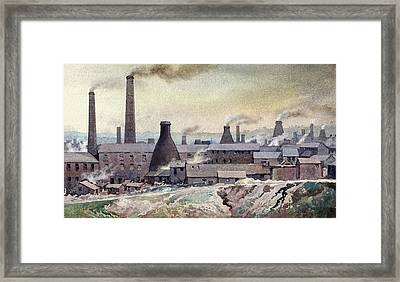 Longton Skyline Framed Print by Anthony Forster