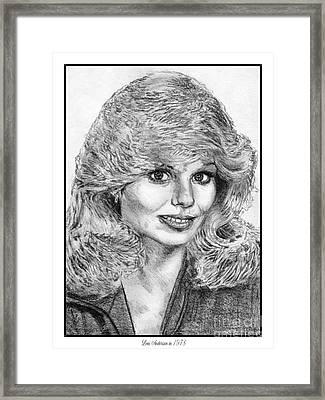 Loni Anderson In 1978 Framed Print by J McCombie