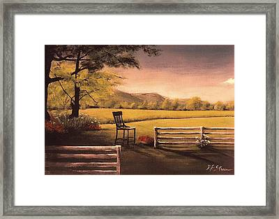 Lonsesome Chair Framed Print