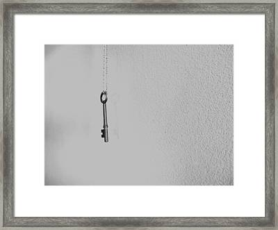 Lonsome Key Framed Print by Amanda Goode