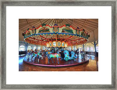 Loof Hippodrome, Carousel With 45 Hand Framed Print