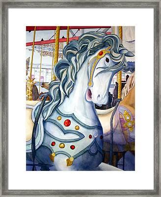 Looff Carousel Framed Print
