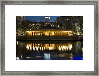 Looff Carrousel Reflection Framed Print