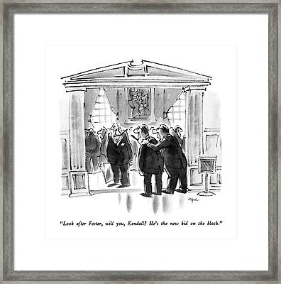 Look After Foster Framed Print by Lee Lorenz