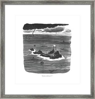 Look, Ambergris! Framed Print