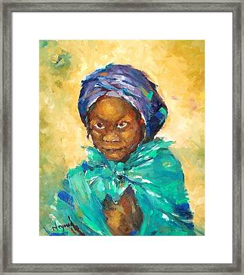Look At Me Framed Print by Negoud Dahab
