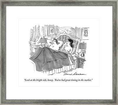 Look At The Bright Side Framed Print