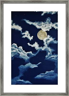 Look At The Moon Framed Print