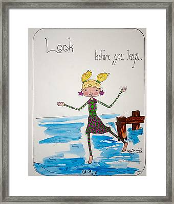 Look Before You Leap Framed Print by Mary Kay De Jesus