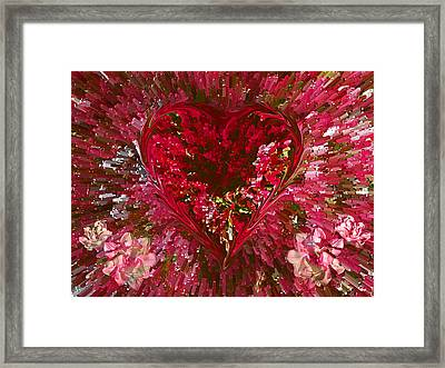 Look Deep Into My Heart Framed Print