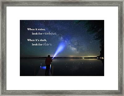 Look For Stars Framed Print
