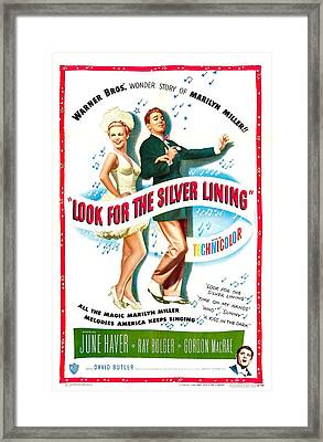 Look For The Silver Lining, Us Poster Framed Print by Everett