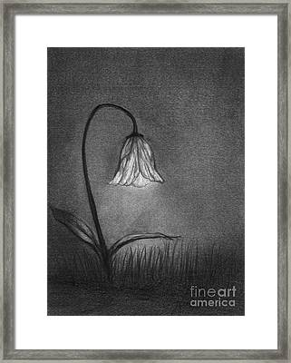 Framed Print featuring the drawing Look For Your Life by J Ferwerda