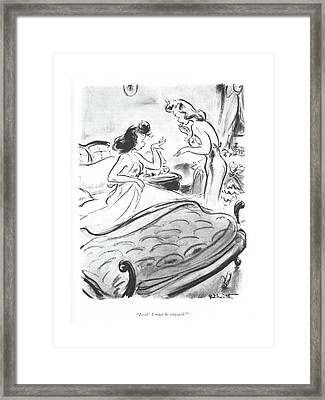 Look! I Must Be Engaged! Framed Print by William Galbraith Crawford
