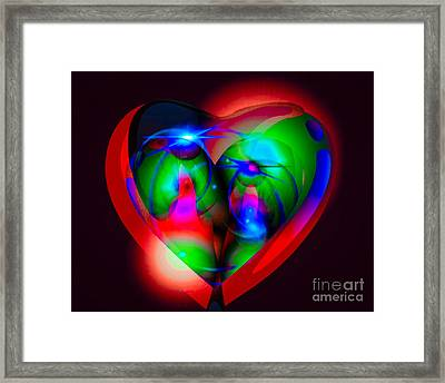 Look Inside My Heart Framed Print by Gayle Price Thomas