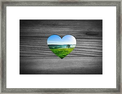 Look Into Nature Framed Print by Aged Pixel