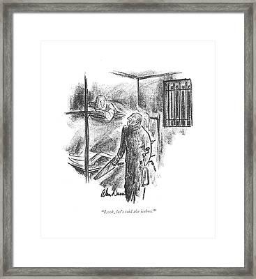 Look, Let's Raid The Icebox! Framed Print by Alan Dunn