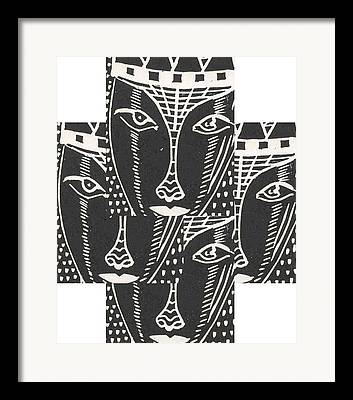 Branko Jovanovic Lino Cut Framed Prints