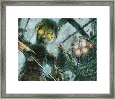 Look Mr Bubbles An Angel Framed Print by Joe Misrasi