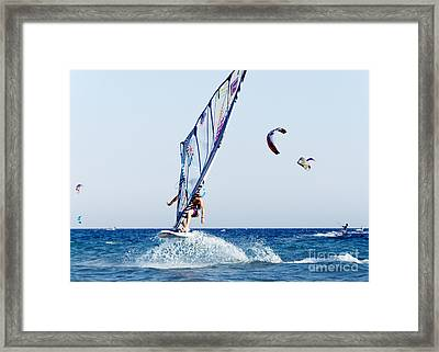 Look No Hands Framed Print by Stelios Kleanthous