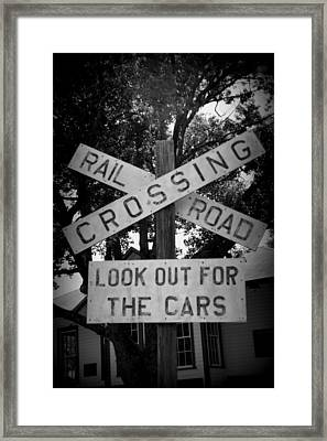 Look Out For Cars Framed Print by Laurie Perry