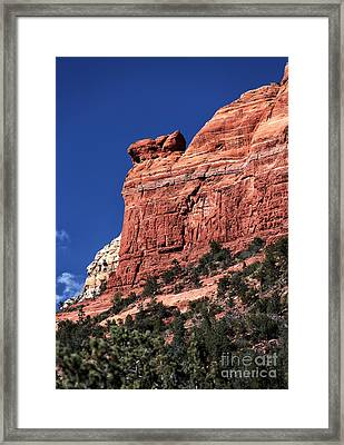 Look Out Point In Sedona Framed Print by John Rizzuto