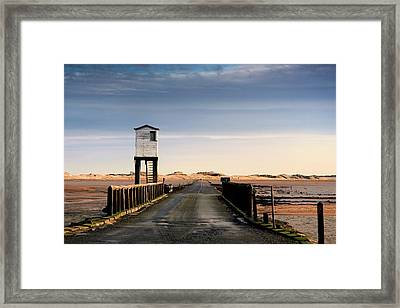 Look-out Tower By Bridge, Holy Island Framed Print