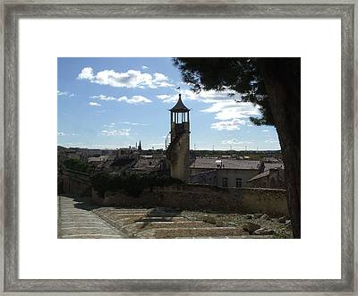 Look Out Tower On The Approach To Beaucaire Castle Framed Print