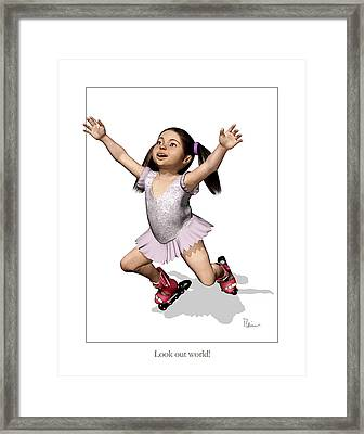 Look Out World Framed Print