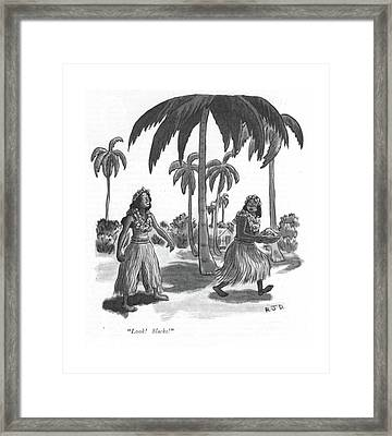 Look! Slacks! Framed Print by Robert J. Day