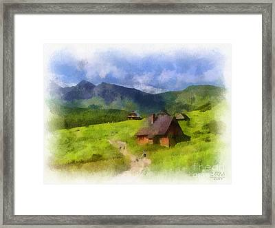 Look To The Hills Framed Print by Barbara R MacPhail