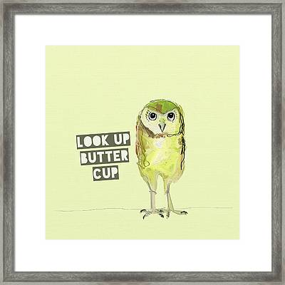 Look Up Butter Cup Framed Print