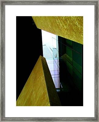 Look Up Mint Uptown Framed Print by Randall Weidner