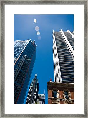 Look Up To The Sky - Skyscrapers In Sydney Australia Framed Print