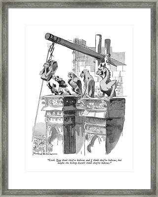 Look. You Think They're Hideous And I Think Framed Print by Rowland Wilson