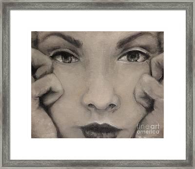 Looker Framed Print by Rachel  Jones