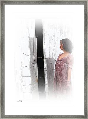 Looking At Darkness Inside Framed Print by Tina M Wenger