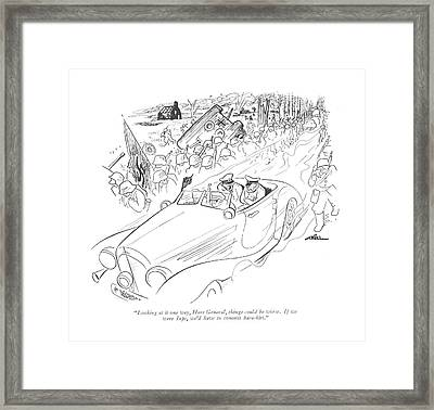 Looking At It One Way Framed Print by  Alain