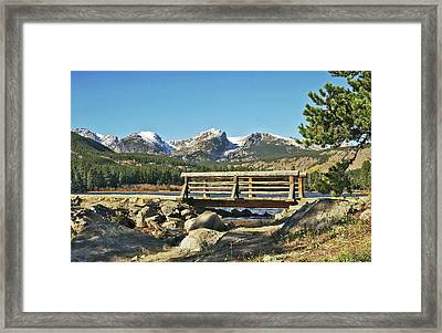 Looking At Longs Peak Colorado Framed Print