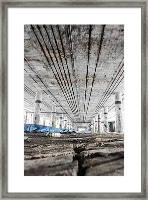 Looking At Packard Plant In Detroit Michigan Framed Print