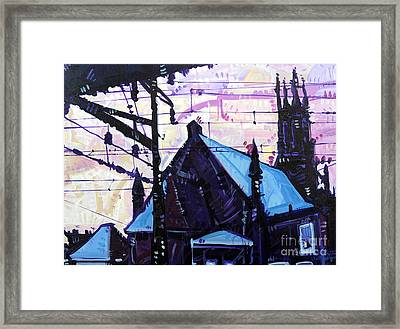 Looking At Saint Peters Framed Print by Michael Ciccotello